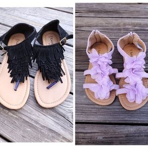 Girls Sandals lot of 2 size 13/1